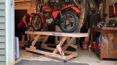 Diy-Motorcycle-Lift-Wood