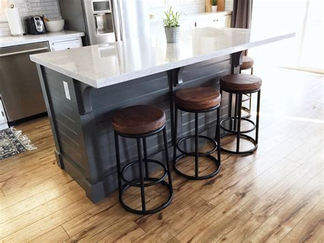 Diy-Movable-Kitchen-Island-With-Breakfast-Bar
