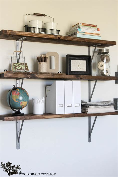 Diy-Office-Wall-Shelves
