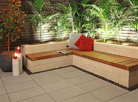 Diy-Outdoor-Bench-Seat-With-Retaining-Wall