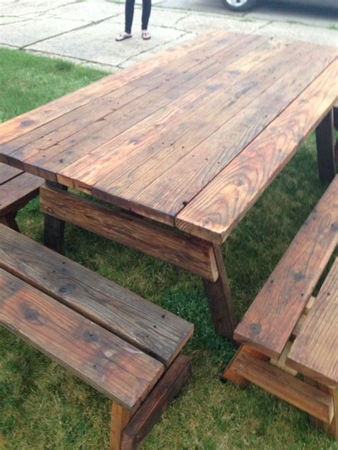 Diy-Outdoor-Wood-Picnic-Table