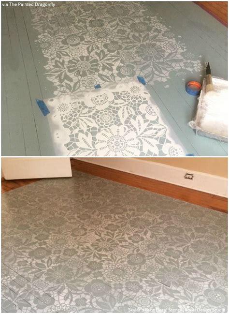 Diy-Over-Stencil-Wood-Floors