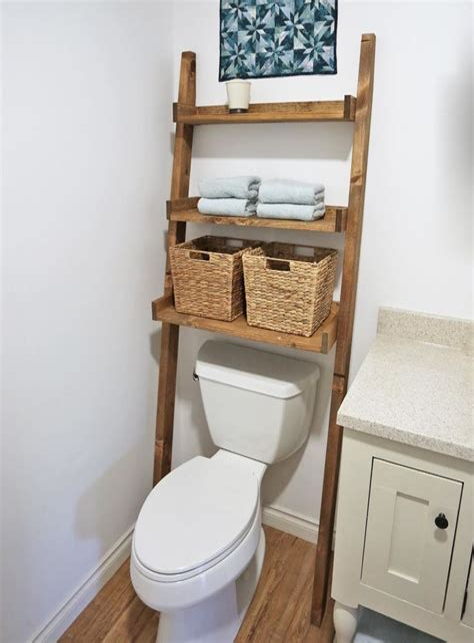 Diy-Over-The-Toilet-Ladder-Shelf