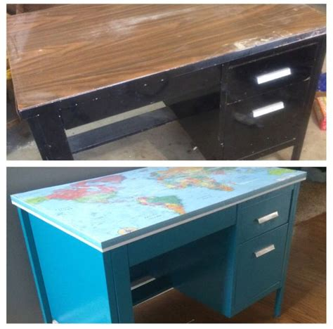 Diy-Paint-Metal-Desk