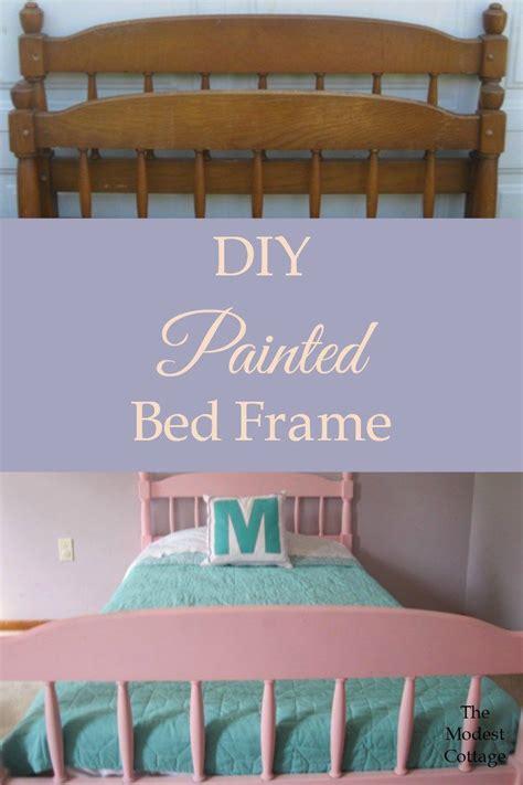 Diy-Paint-Wooden-Bed-Frame