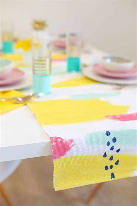Diy-Painted-Table-Runner
