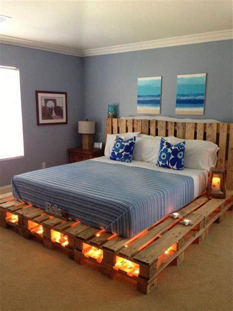 Diy-Pallet-Bed-Frame-With-Lights