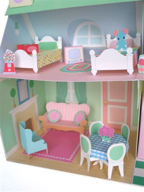 Diy-Paper-Craft-House-And-Furniture