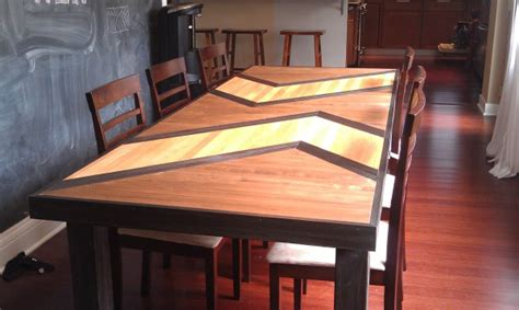 Diy-Patterned-Plywood-Dining-Table