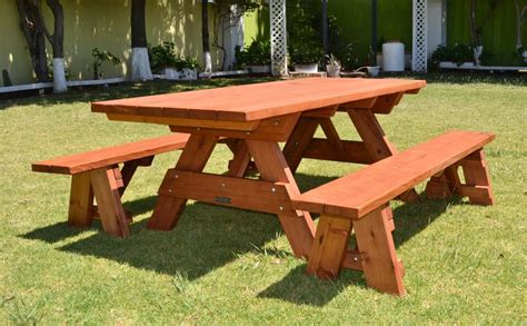Diy-Picnic-Table-With-Separate-Benches-Plans