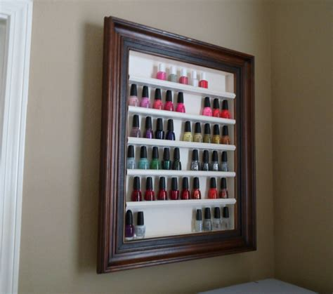 Diy-Picture-Frame-Nail-Polish-Rack