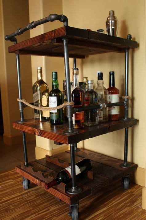 Diy-Pipe-And-Wood-Bar-Cart