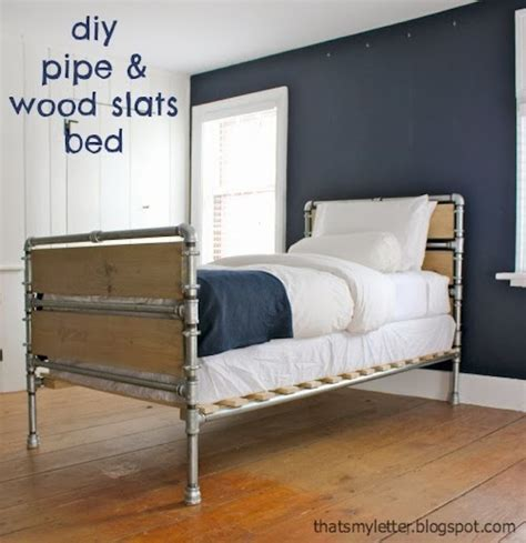 Diy-Pipe-And-Wood-Bed-Frame
