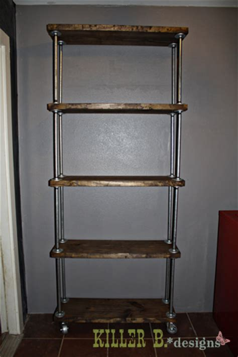 Diy-Pipe-Shelves-Freestanding-Microwave-Stand