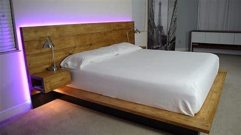Diy-Platform-Bed-With-Floating-Nightstands