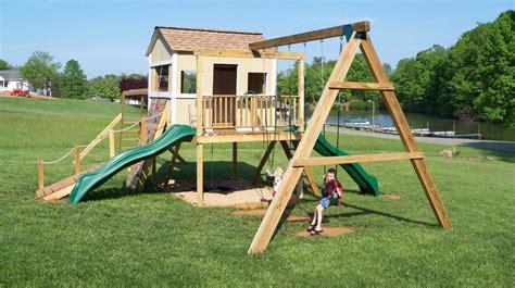 Diy-Playhouse-And-Swing-Set