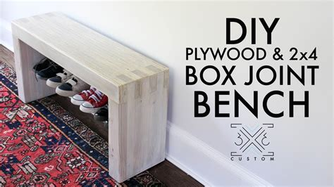 Diy-Plywood-And-2x4-Box-Joint-Bench