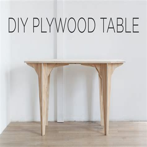 Diy-Plywood-Table