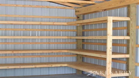 Diy-Pole-Barn-Shelves