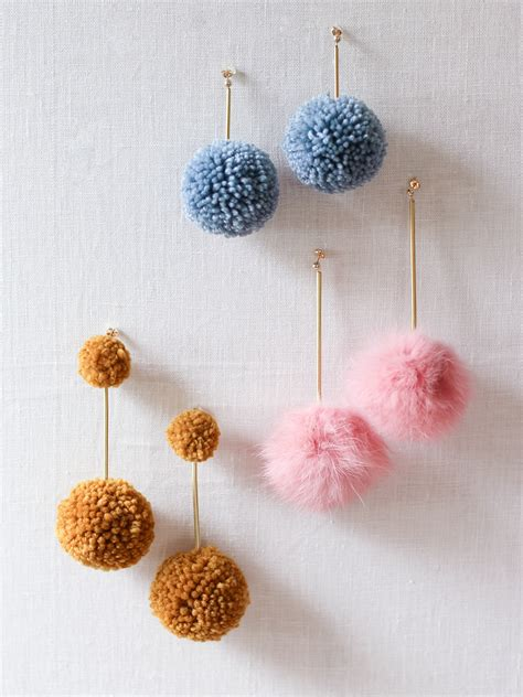 Diy-Pom-Pom-Earrings