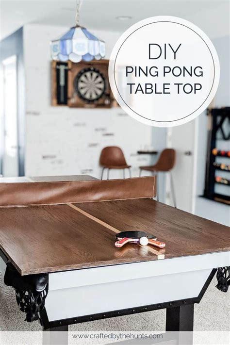 Diy-Pool-Pong-Table