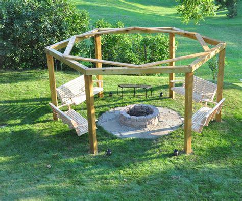 Diy-Porch-Swing-Fire-Pit-Plans