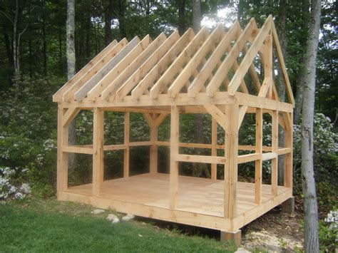 Diy-Post-And-Beam-Shed