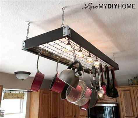 Diy-Pot-Rack-With-Lights-And-Decor