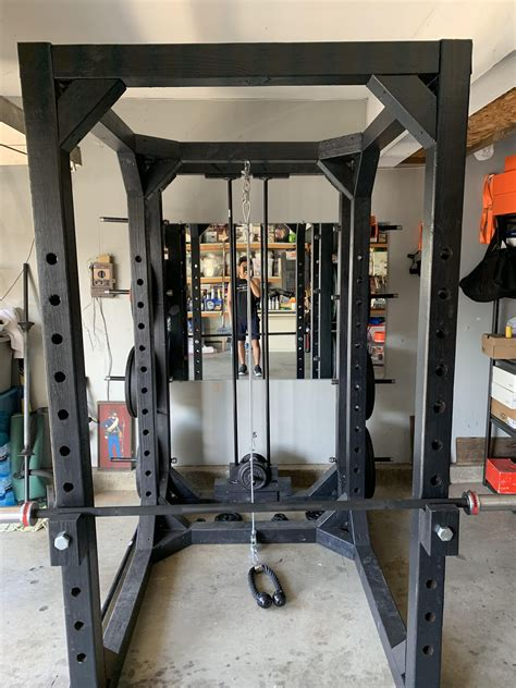 Diy-Power-Rack-Cable-Pulley-System
