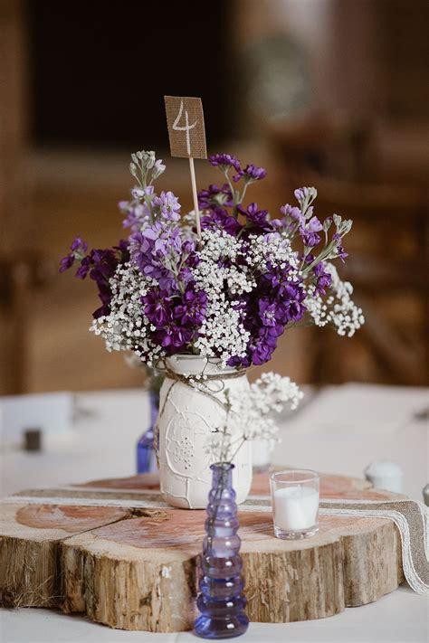 Diy-Purple-Wedding-Table-Centerpieces