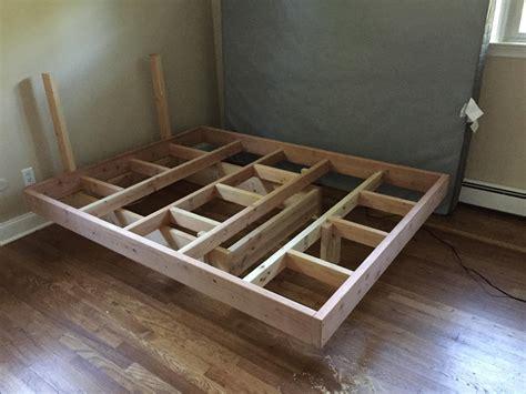 Diy-Queen-Floating-Platform-Bed