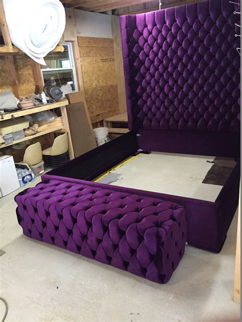 Diy-Queen-Tufted-Headboard-With-Wings-Purple-Pattern