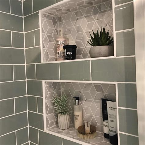 Diy-Recessed-Tile-Shower-Shelves