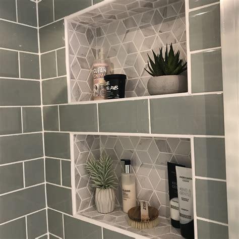 Diy-Recessed-Tiled-Shower-Shelves