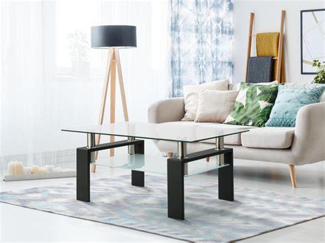 Diy-Rectangular-Coffee-Table-With-Lower-Shelf