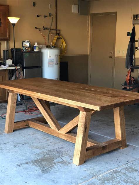 Diy-Red-Oak-Table