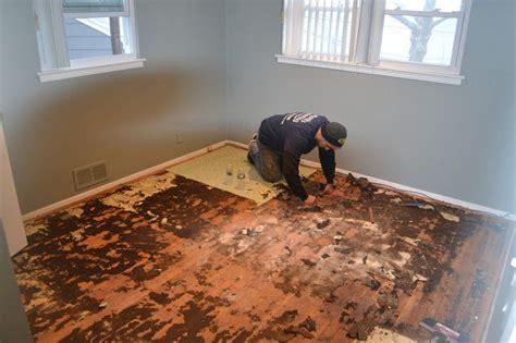 Diy-Removing-Rug-With-Wood-Floor-Underneath