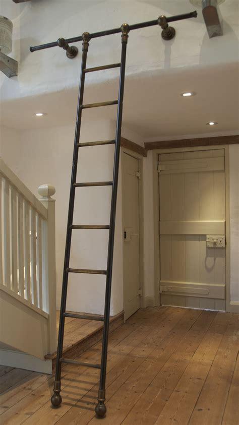 Diy-Rolling-Library-Ladder
