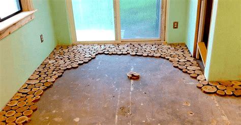 Diy-Round-Wood-Floor