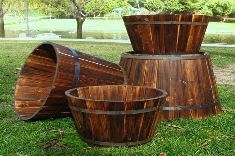 Diy-Round-Wooden-Planters
