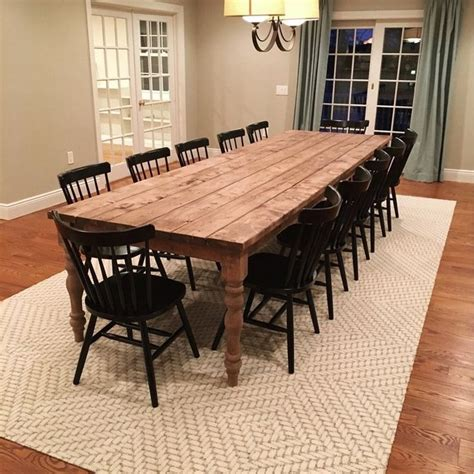 Diy-Rustic-Large-Dining-Room-Table