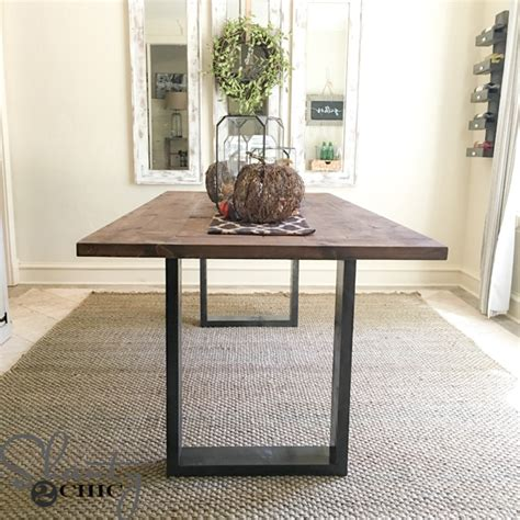 Diy-Rustic-Modern-Dining-Table