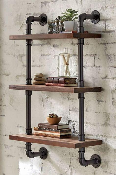 Diy-Rustic-Pipe-Shelves
