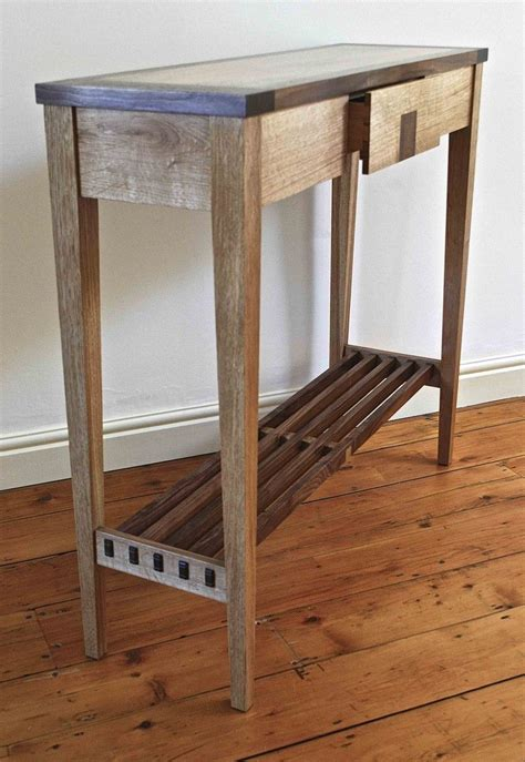 Diy-Rustic-Shallow-Console-Table