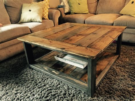 Diy-Rustic-Square-Coffee-Table