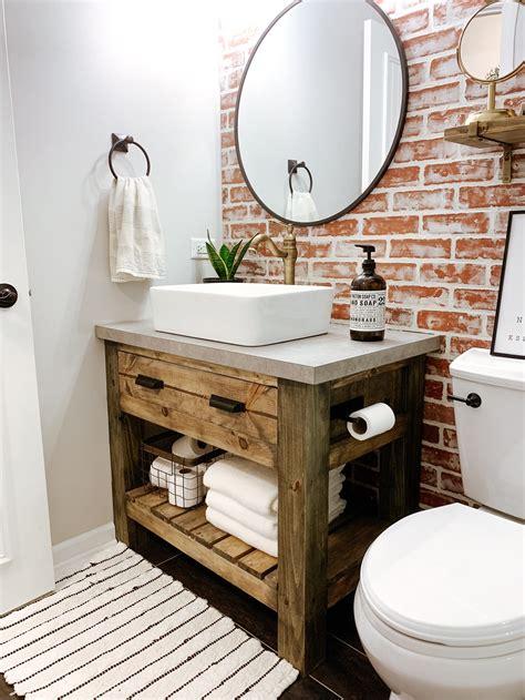 Diy-Rustic-Vanity-Table