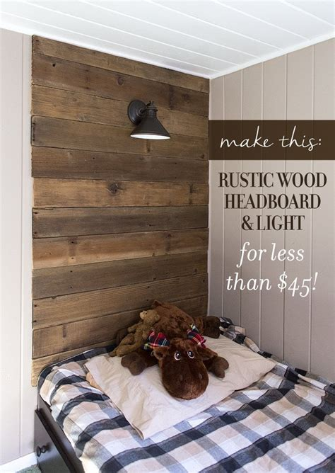 Diy-Rustic-Wood-Headboard-With-Lights