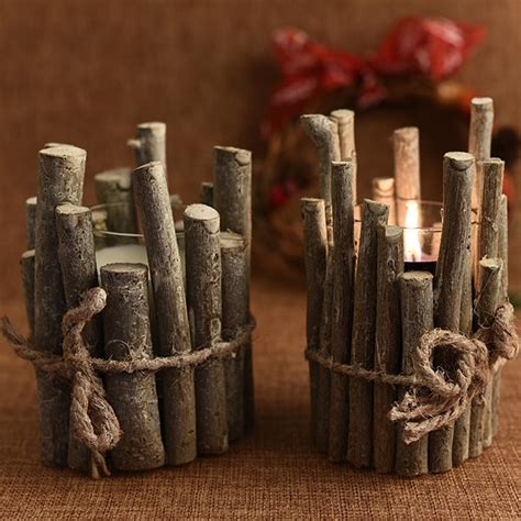 Diy-Rustic-Wooden-Candle-Holder