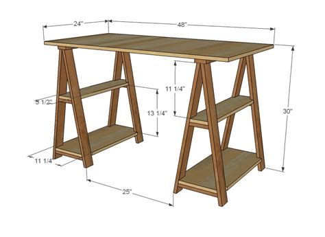 Diy-Sawhorse-Desk-Plans