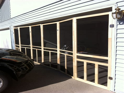 Diy-Screen-For-Garage-Door